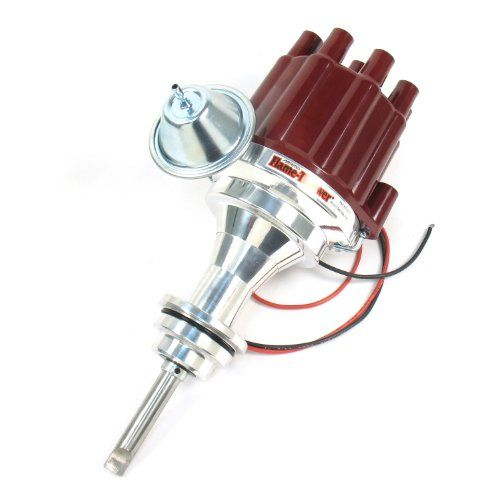 Pertronix D141701 Flame-Thrower Plug and Play Vacuum Advance Red Cap Billet Electronic Distributor with Ignitor II Technology for Chrysler/Dodge/Plymouth 273-360:   Plug n' Play billet I2 distributors are designed for maximum ignition performance at a price you can afford. Our distributors ship with Ignitor II technology modules. Replace your outdated points, electronic distributor or bulky HEIs with this performance proven system. Simply install the distributor in the engine, connect ...