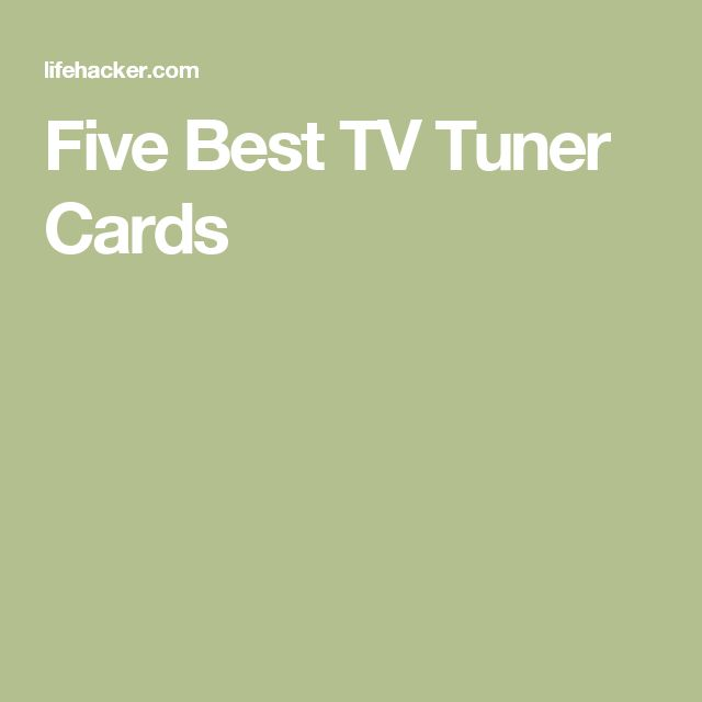 Five Best TV Tuner Cards