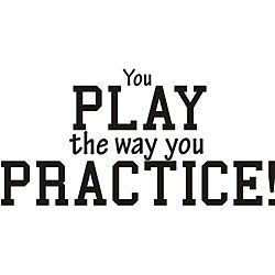 I always tell my girls this. Practice like sh*t, Play like sh*t. Practice like Champs, Play like Champs