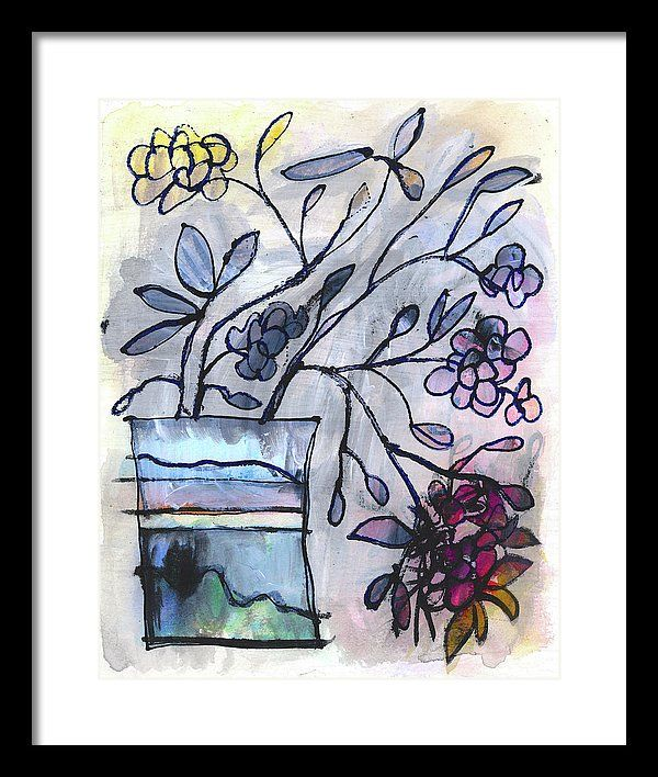 Floral Framed Print featuring the painting Just A Suggestion by Tonya Doughty