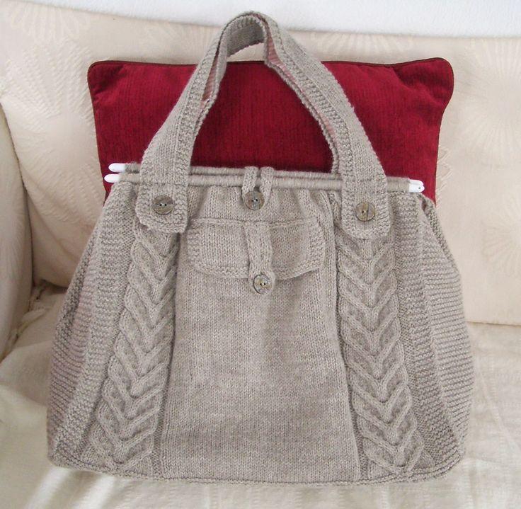 Purse Knitting Patterns | Knitted bags, Yarn bag, Tote pattern