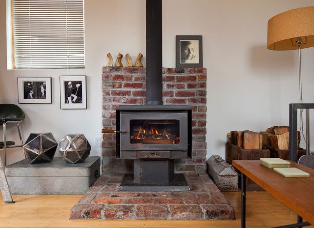 Living Room Wood Burning Stove Tile Design, Pictures, Remodel, Decor and Ideas