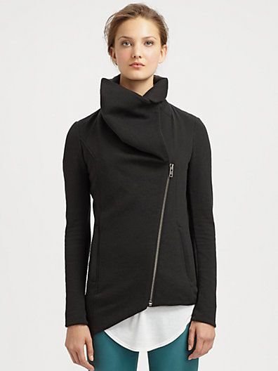 Stitch fix: I own this helmut Lang jacket! It is my favorite item in my closet. It can be worn dressy or casual and its extremely comfy and fits my curvy figure! It is not hugging, but does give me a long and lean shape! Light weight wool jackets like these are amazing and I love in my closet!