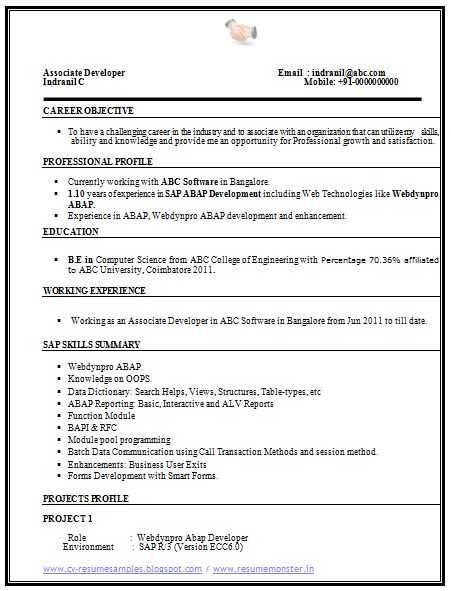 computer science resume sle 1 career