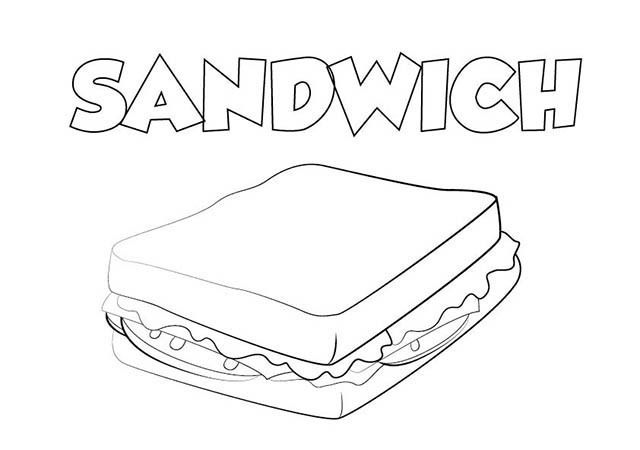 Sandwich Dibujo Para Colorear Fun Diy Craft Projects Diy Geometric Decor Water Candles Diy