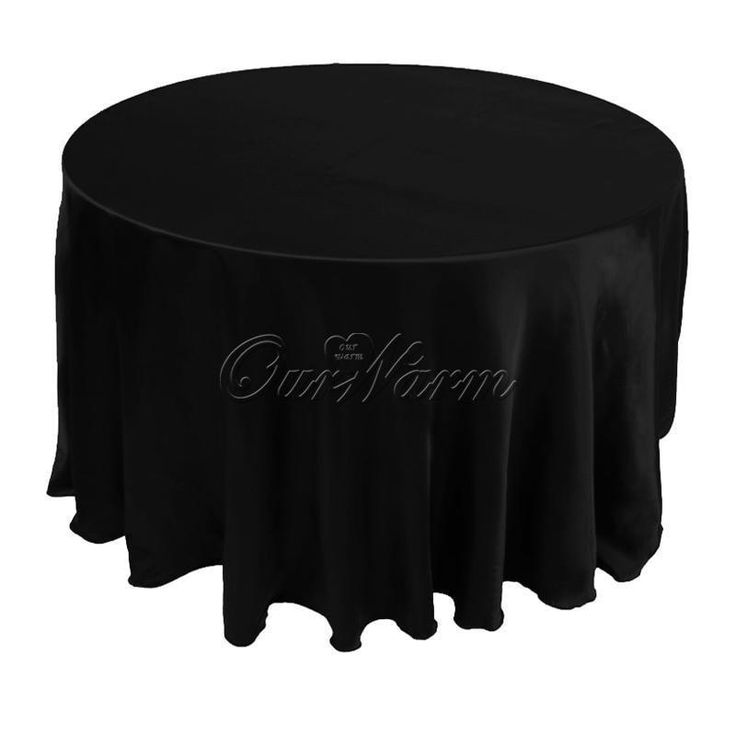 """10Pcs/lot 90"""" Tablecloth Table Cover White Black Round Satin for Banquet Wedding Party Decoration"""