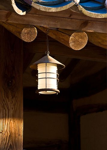Old School Lamp, Traditional Village  Gyeongju Province, Korea