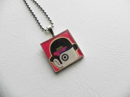 Stanley Kubrick's Clockwork Orange Movie Poster Pendant, $15.00 by Annie By Design