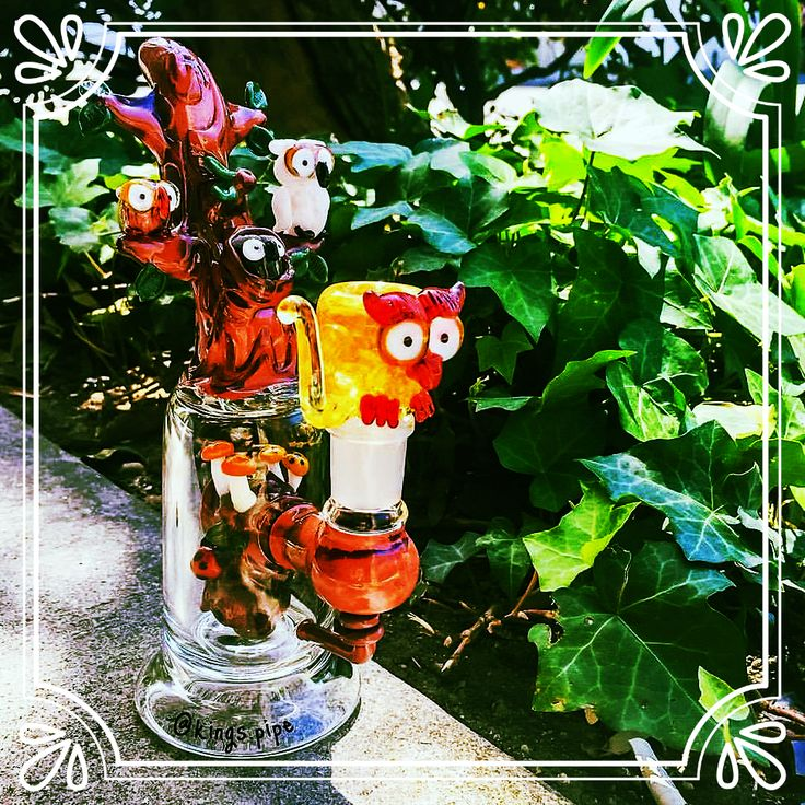 "Feeling nocturnal? Get elevated with this whimsical cutie: Empire Glassworks – Deep Forest Hooties Dab Rig! Standing at a mere 7.5"", this Dab Rig has a 3 Hole Fixed Stem that percolates your smoke for maximum flavor and adds to that the design of a tree trunk for utmost playfulness. Combined with the 14mm Female Joint and 14mm Male Owl Glass Bowl, now that's a complete package! Want to stand out while toking with friends, the Tree Mouthpiece with cute little owls will surely do the trick!"