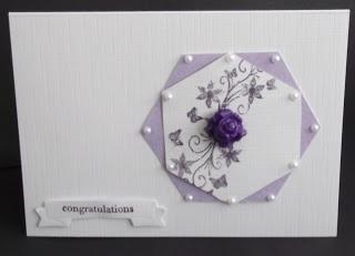 Loves to craft - cute CAS hexagon card