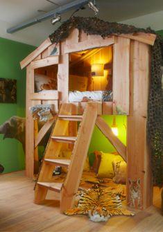 Boomhut slaapkamer