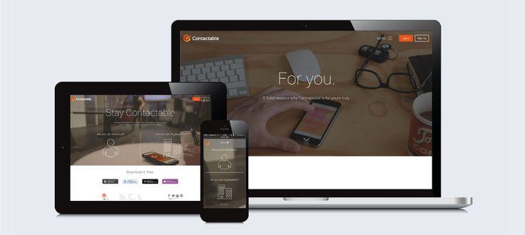 Contactable: Responsive Website Design, Development and Management by Electrik Design Agency www.electrik.co.za