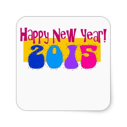 2015 New Year Party Name Tag Stickers