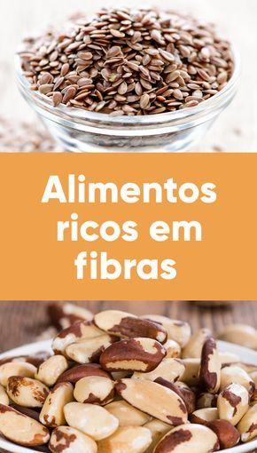 ricos em fibras são principalmente os de origem vegetal, como frutas, verduras, legumes, cereais como arroz integral e milho, feijão, grão-de-bico frutas secas.