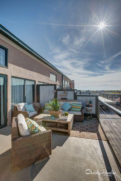 Balcony from loft apartment in Memphis, TN