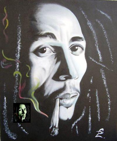 Bob Marley, Oil on canvas,   autor: Petr ZEMAN, Czech republic, Vrchlabí 2009 - SOLD