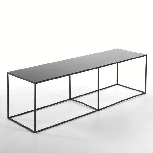 Bout de lit métal Romy AM.PM : prix, avis & notation, livraison. Bout de lit ou table basse étroite, en métal laqué mat.L.140 x P.40 x H.40 cm.