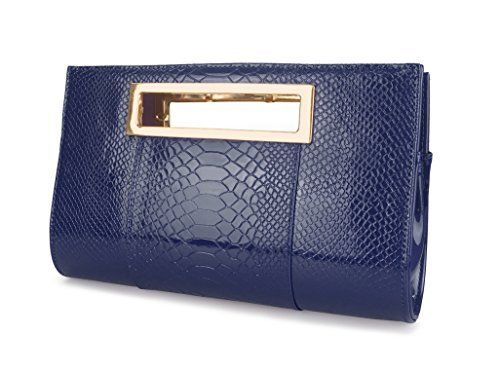 New Trending Clutch Bags: Hoxis Classic Crocodile Pattern Faux Patent Leather Cut it out Clutch with Chain Shoulder Strap Womens Handbag (Navy). Hoxis Classic Crocodile Pattern Faux Patent Leather Cut it out Clutch with Chain Shoulder Strap Womens Handbag (Navy)   Special Offer: $24.90      411 Reviews Hoxis Classic Crocodile Pattern Faux Patent Leather Cut it out Clutch with Shoulder Strap Womens Handbag Faux Leather – Zip...