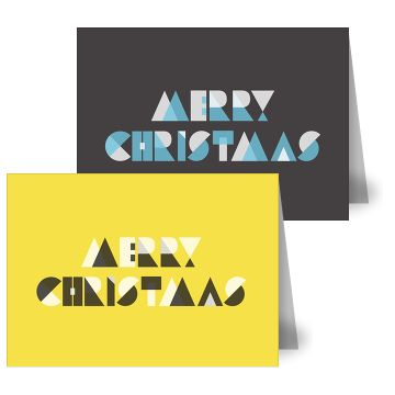 Type Christmas Cards by MOO. A picture may be worth a thousand words, but these festive designs, made entirely from scuffed letters and punctuation, take far fewer letters to make their point.