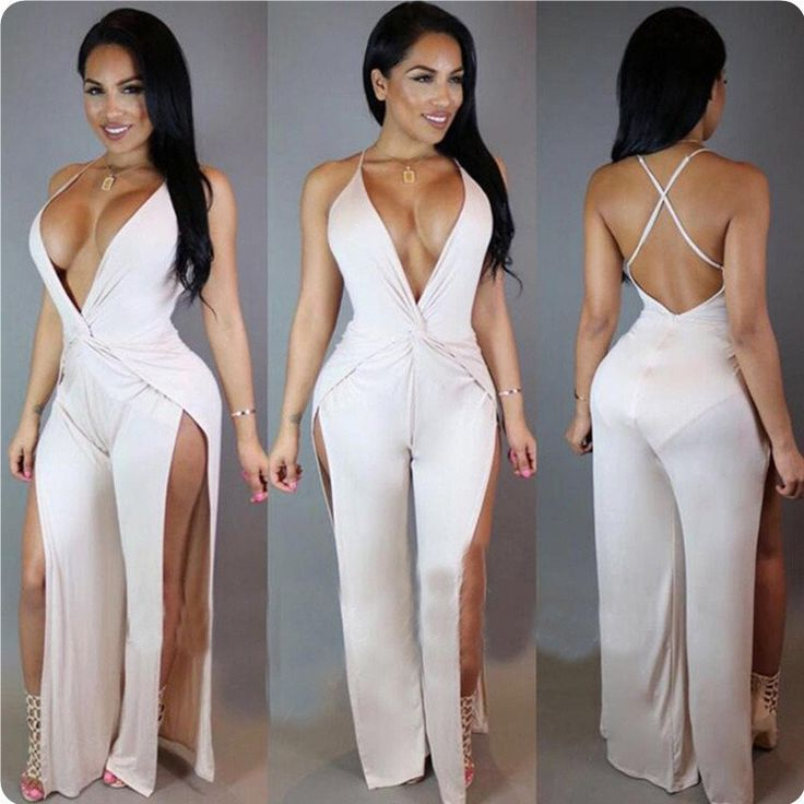2016 Sexy Rompers Womens Jumpsuit Bodycon Overalls Black White Catsuit Outfits
