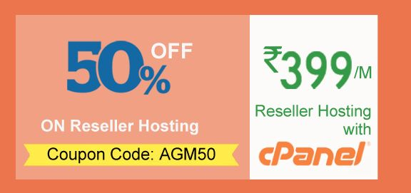 Reseller Hosting allows you to create sub-packages within the allotted Disk Space and Bandwidth of your main Hosting package. Launch your own hosting business and start earning with AGM India's Linux Reseller Hosting. Get best Hosting and domain deals at AGM. Get flat 50% off on reseller Hosting plans, use coupon code: AGM50. All plans come with Latest cPanels, Free AGM Website Builder, Emails, Cpanel With WHM, Unlimited Cpanel account and 24/7 Unlimited Support