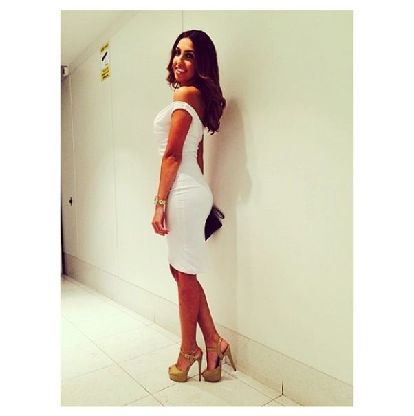 Nadine appearing SMASHING in our Lille Dress in White #snap