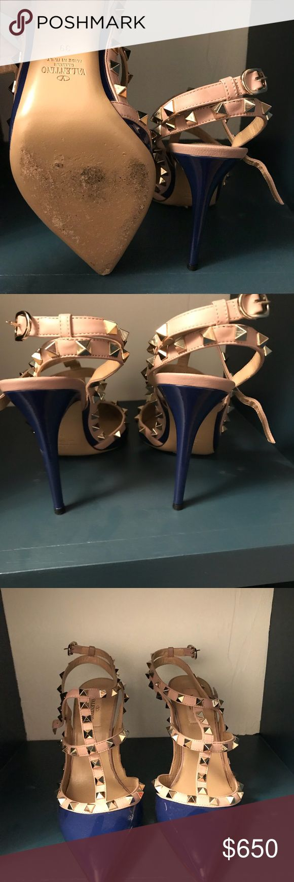 Valentino Rockstud Beautiful Blue Pumps BUY 2 For 1 (PRICE WILL BE DETERMINED) Worn 1 time with Box and bags. Beautiful and comfortable Valentino Shoes Heels