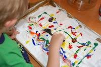 In Lieu of Preschool: Shaving Cream Painting