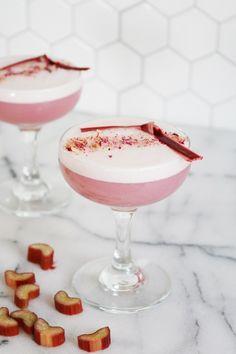Rhubarb Rose Fizz Mocktail!