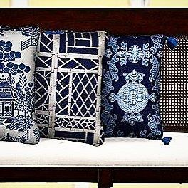 The CHINA BLUE PILLOW COLLECTION - this eclectic selection of Asian inspired throw pillows will bring the charms of the Far East into your home. Mix & Match for a personal range of expression #shoponline #shipworldwide  #pillows #cushions #chinoiserie #blueandwhite  #austexpresspost ✈️#stuartmemberyhome