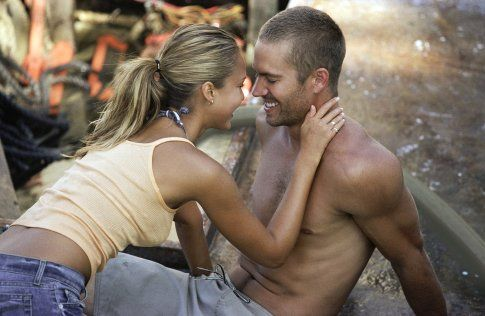 "Paul Walker with Jessica Alba ""into the blue"""