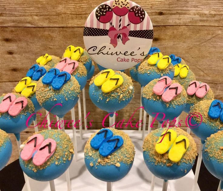 """48 Likes, 3 Comments - CAKE POPS-Redlands,CA.Est.2012 (@chiweescakepops) on Instagram: """"More of our Beach/Summer theme🌞🌊 Super cool😎👍 #cakepops #cake #picoftheday #love #fun #delish #cool…"""""""