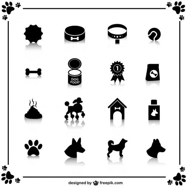Icone del cane libero Vettore gratuito
