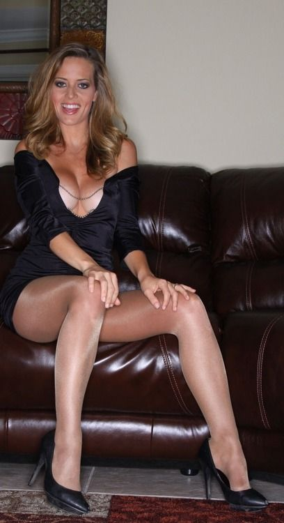 Sexy older women in nylons with