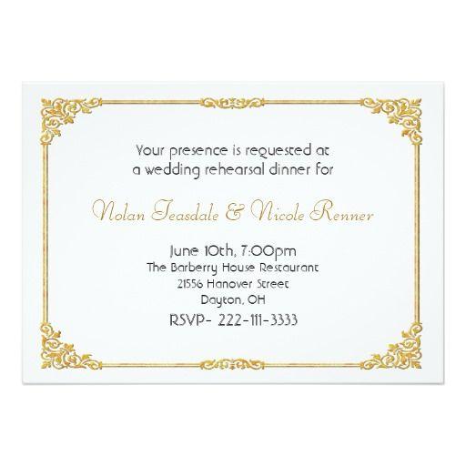 420 best glitzy wedding invitations images on pinterest white gold wedding rehearsal dinner invitation stopboris Gallery