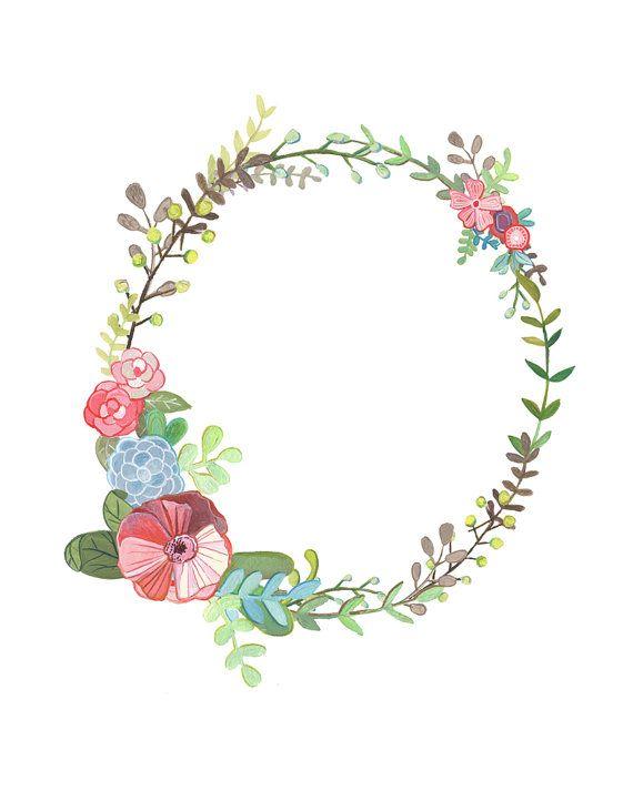 O carta Floral ilustración tipografía Floral por Makewells en Etsy
