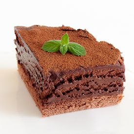 Great chocolate mousse on a Genoese sponge cake - the best I've ever had!