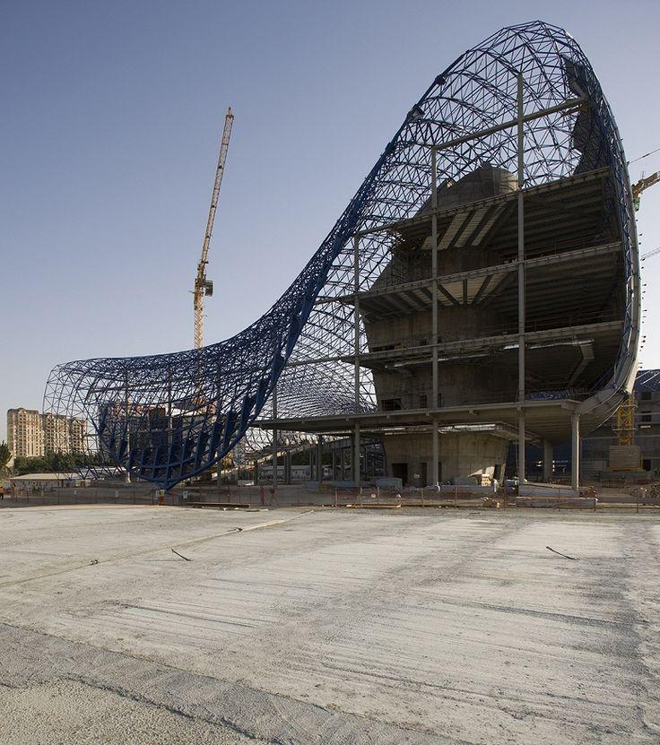 Structure Design Of HEYDAR ALIYEV CENTER By Zaha Hadid