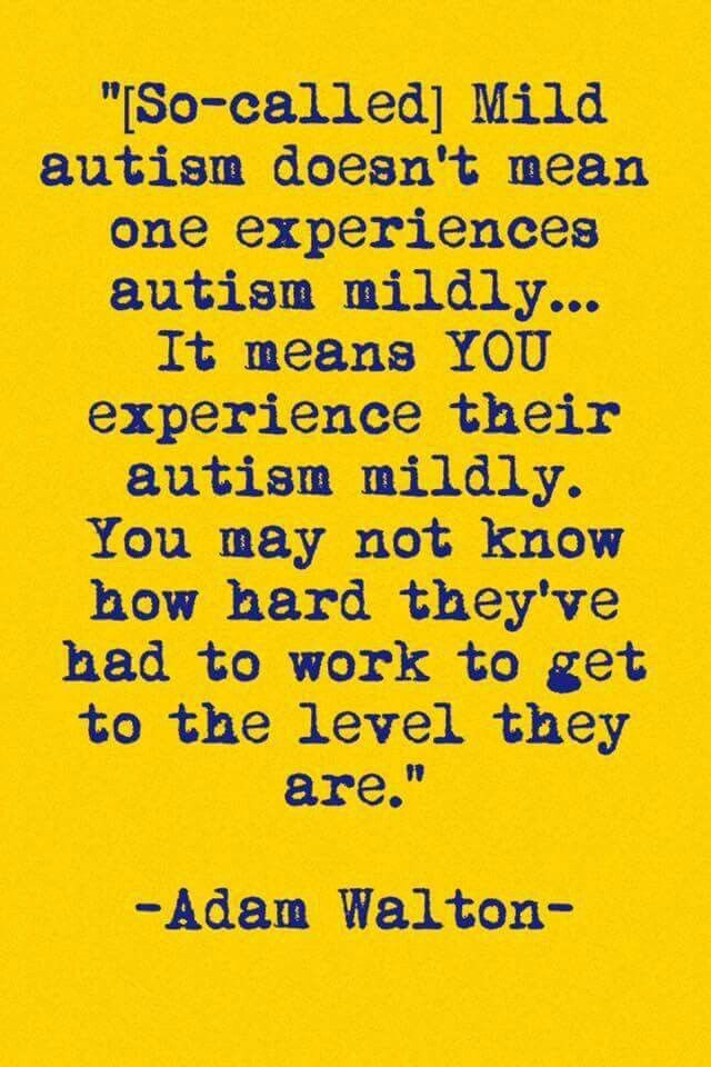 Mild autism adult
