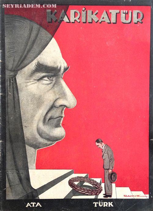 Ata - Türk (Ramiz Gökçe, Karikatür, 1939)