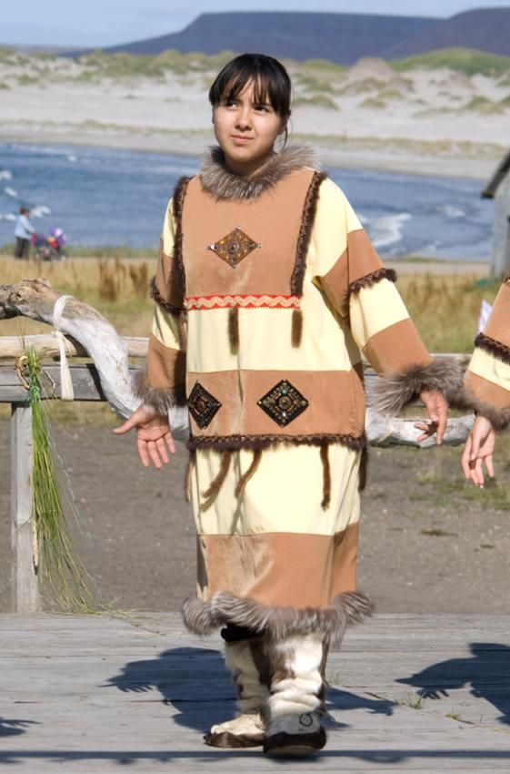 Traditional of Aleut Coat .