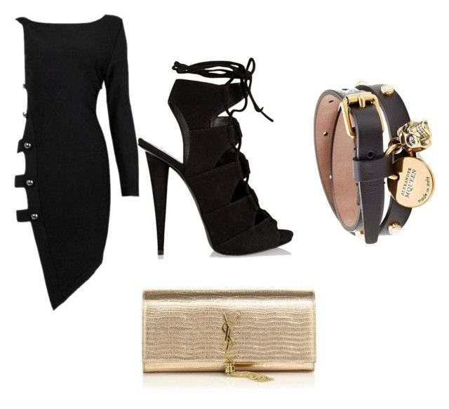 """""""Party time"""" by gonnadressyouup on Polyvore featuring Posh Girl, Giuseppe Zanotti, Alexander McQueen, Yves Saint Laurent, Summer, Pink, AlexanderMcQueen, rayban and sophiawebster"""