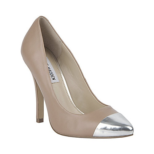 Shop Women's Steve Madden Cream Silver size 8 Heels at a discounted price  at Poshmark. Description: Steve Madden Ilussion Cap Toe Pumps size 8 M.