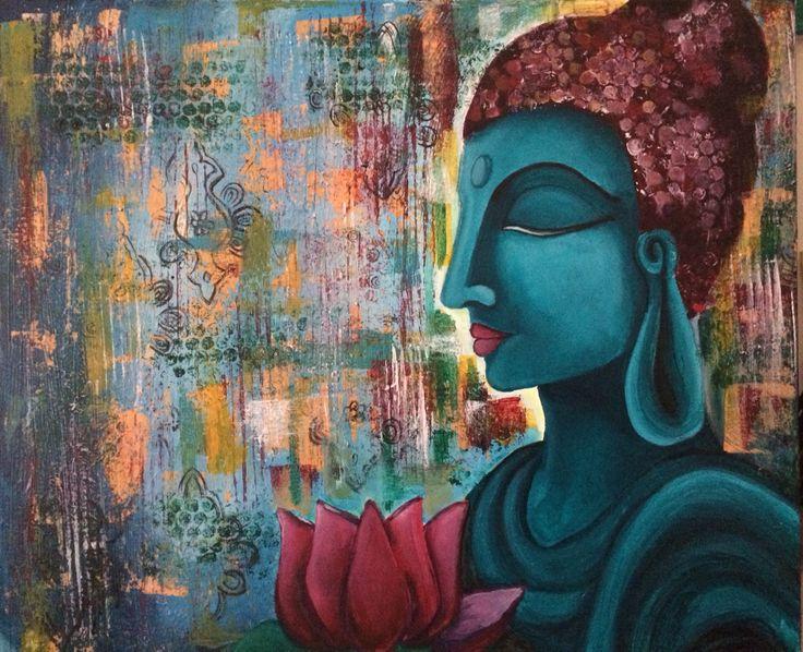 Acrylic Buddha painting SOLD