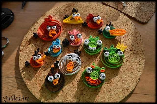 quilling angry birds