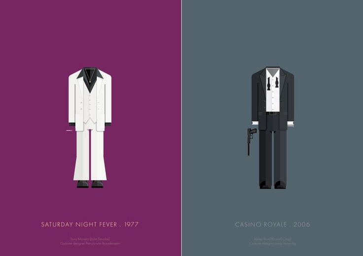 Illustrations of Famous Movie Characters Costumes  After the great series about popular movie and TV Show settings illustrations created by Brazilian artist Frederico Birchal we offer another series he made dedicated to iconic costumes of movies characters. More on his website.                                #xemtvhay