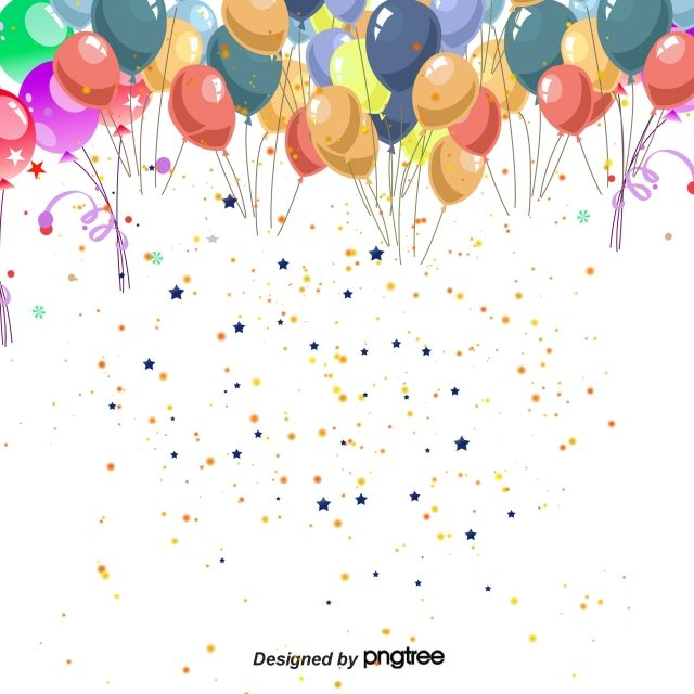 Vector De Dibujos Animados Ninos Globos De Colores De Fondo Balloon Background Art Background Creative Background