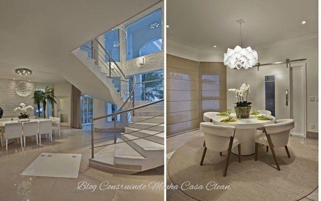 Salas de jantar decoradas com mesas brancas revestimentos for Modelos de salas pequenas
