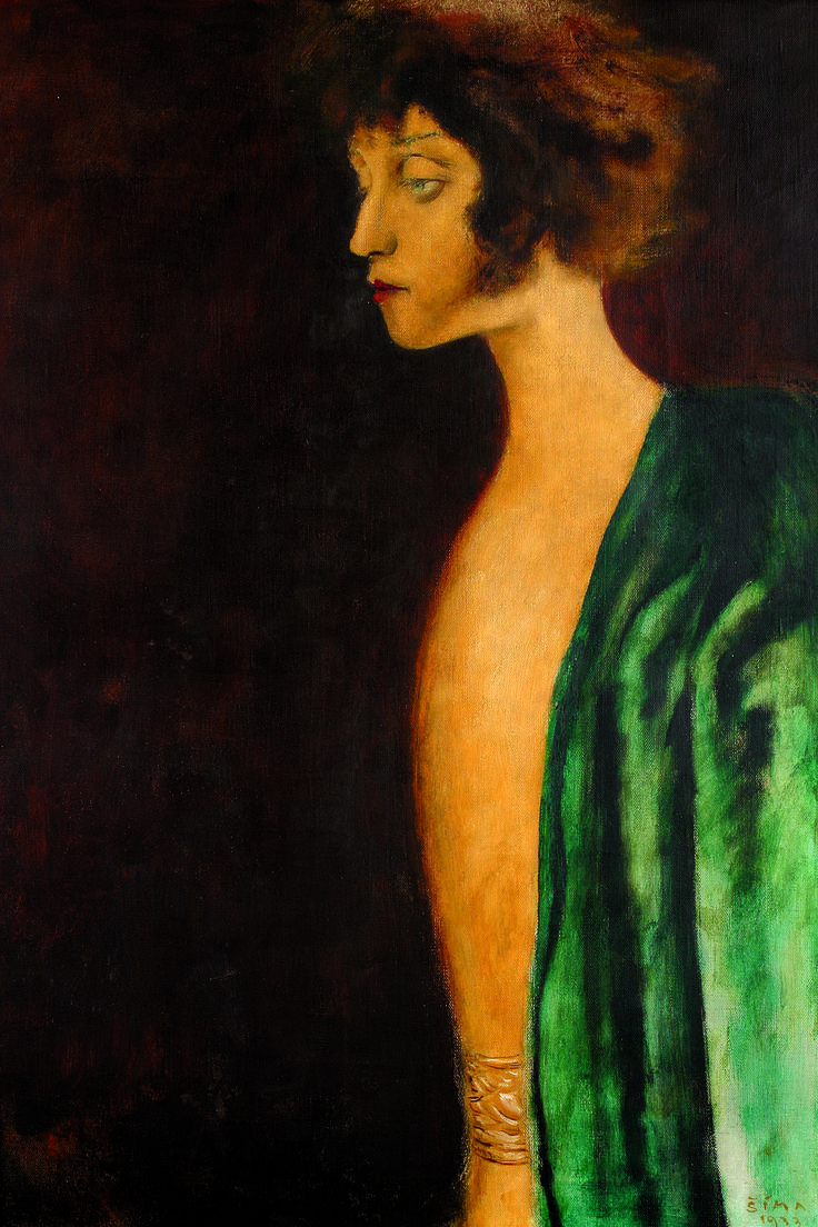 Josef Šíma (Czech, 1891 - 1971) Portrait of Zuzky Zgurišky, 1933