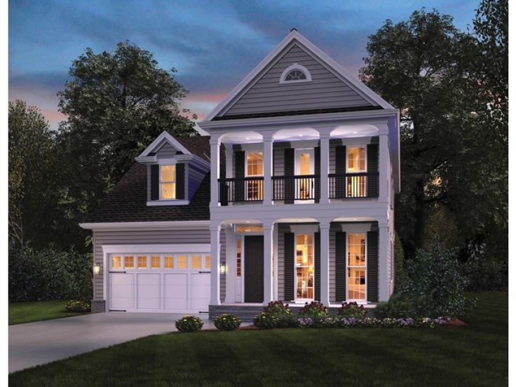 Plantation House Plan with 2400 Square Feet and 4 Bedrooms from Dream Home Source | House Plan Code DHSW076525